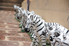 Zebra Statue. Stock Photo