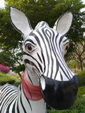 Zebra statue. Many zebra statue at workplace Royalty Free Stock Photography