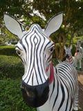 Zebra statue. Many zebra statue at workplace Stock Photography