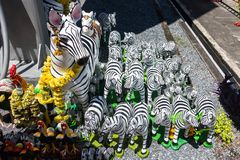 Zebra statue sacrificial offering for thai god ,god toy,pray to Stock Images