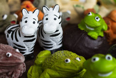 Zebra statues. For garden decorate Royalty Free Stock Images