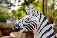 Zebra statues Stock Photo