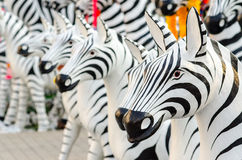 Zebra statues in Thailand Stock Photos