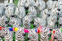Zebra statues in Thailand Stock Image