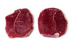 Zebra steaks Stock Photography