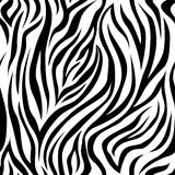 Zebra Stripes Seamless Pattern Stock Photo
