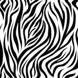 Zebra Stripes Seamless Pattern Stock Photo