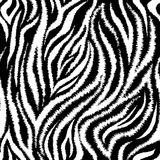 Zebra Stripes Seamless Pattern Royalty Free Stock Photos