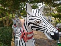 Zebra. Stube in park Stock Photo