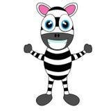 Zebra sveglia Immagine Stock