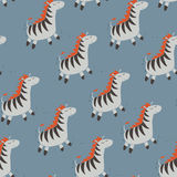 Zebra sveglia Immagini Stock