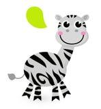 Zebra sveglia del fumetto Fotografia Stock Libera da Diritti