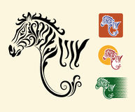 Zebra symbols Royalty Free Stock Images
