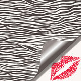 Zebra texture and lipstick kiss Royalty Free Stock Photography