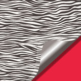 Zebra texture and red background Royalty Free Stock Image