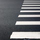 Zebra traffic walk way. On street Stock Photography