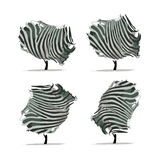 Zebra tree for your design Stock Photography