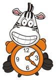 Zebra utrzymuje alarm ilustracja wektor