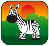 Zebra vector hand drawn Royalty Free Stock Images
