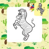 Zebra vector illustration. Coloring book Stock Photo
