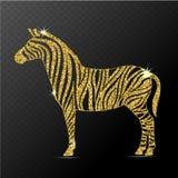 Zebra  vector illustration Stock Image