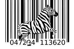 Zebrabarcodeentwurfs-Kunstidee Stockfotos
