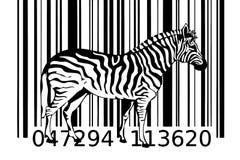 Zebrabarcodeentwurfs-Kunstidee Lizenzfreies Stockbild