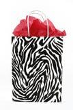 Zebradruck-Geschenkbeutel. Lizenzfreie Stockbilder