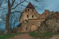 Zebrak slott i våren, Tjeckien Arkivfoto