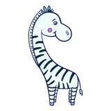 Zebrakarikatur Lizenzfreie Stockfotografie