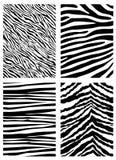 Zebramustervektor Lizenzfreies Stockbild