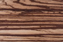 Zebrano texture, Wood grain background. Stock Photo
