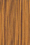 Zebrano (wood texture) Stock Photo