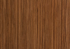 Zebrano wood texture, grain background Royalty Free Stock Photo