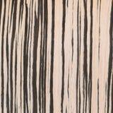 Zebrano wood texture, wood grain Stock Photography