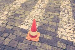Zebrapad op weg voor kruis de straat Royalty-vrije Stock Foto's