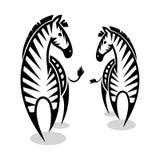 Zebras. Vector illustration of two zebras Stock Photo