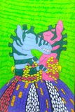 Zebras loving nos braços ilustração royalty free