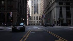 Zebrastreifen in im Stadtzentrum gelegenem hd Chicagos 1080p stock video