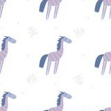 Zebre senza cuciture del modello Fotografie Stock Libere da Diritti