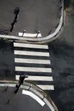 Zebry crosswalk skrzyżowanie lub zdjęcia royalty free