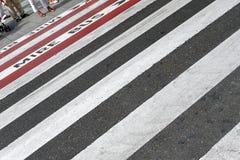 Zebry skrzyżowanie Fotografia Stock