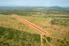 Zebula Lodge. Landing strip at Zebula Lodge Stock Image