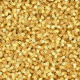 Zecchini di lusso di luccichio dell'oro Struttura senza cuciture di vettore del partito di discoteca illustrazione vettoriale