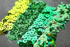 Zecchini verdi brillanti Fotografia Stock