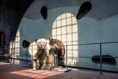 Zeche Zollverein, Essen, Germany. ESSEN, GERMANY - APRIL 7, 2019: Detail image of Zeche Zollverein, industrial heritage of Germany on April 7, 2019 in Essen stock image
