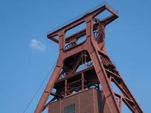 Zeche Zollverein, Essen, Germany. ESSEN, GERMANY - APRIL 7, 2019: Old pitframe of Zeche Zollverein, industrial heritage of Germany on April 7, 2019 in Essen stock images