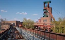 Zeche Zollverein, Essen, Germany. ESSEN, GERMANY - APRIL 7, 2019: Old pitframe of Zeche Zollverein, industrial heritage of Germany on April 7, 2019 in Essen stock photos