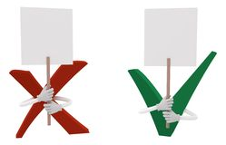 Zecke und Kreuz mit einer Fahne lizenzfreie abbildung