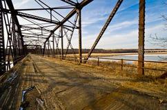Zeder-Alleen-Brücke Stockbild